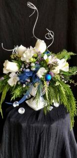 Silver and Blue Festive