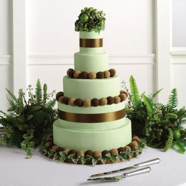 Green Fondant Cake with Truffles